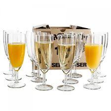 12er Set Royalty Sektgläser 16cl Sektglas Glas Sekt Prosecco Party 0,1L Gläser