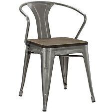 Modway Promenade Dining Chair In Gunmetal