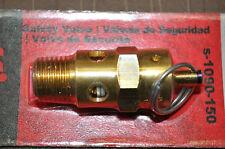 """Air compressor ASME safety valve •1/4"""" MNPT, 150PSI pop off, 140 CFM S-1090-150"""