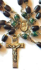 ANTIQUE CATTLE HORN ROSARY ROSARIES ☧ STERLING SILVER 'HMH' ☧ CATHOLIC PRIESTS