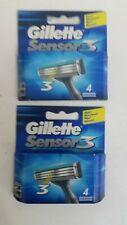 GILLETTE SENSOR 3 (PACK OF 8) SHAVING BLADES (FREE DELIVERY)