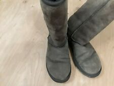 Women's Brown UGGS Leather Sheepskin Boots Size W6