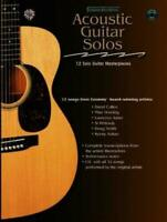 """ACOUSTIC GUITAR SOLO MASTERPIECES MUSIC BOOK + CD """"NEW"""""""