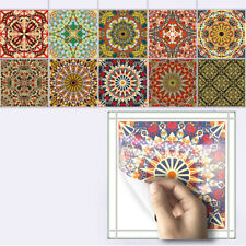 10pcs Vintage Moroccan Self-adhesive Bathroom Kitchen Wall Stair Tile Sticker