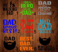 Dad Decal Single Color 3x3 A