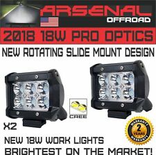 "2018 2x 4"" Arsenal Offroad 18W POD 6 CREE LED Brightest on the Market Off-road"