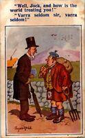 Vtg Postcard 1930 Prohibition Comic Donald McGill Signed Bamforth Co Scottish
