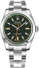 Rolex Milgauss Steel Automatic Black Dial Oyster Bracelet Watch 116400GV
