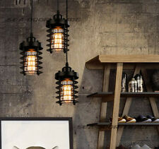 Metal Retro Industrial Vintage Ceiling Cage Circle Pendant light Chandelier Lamp