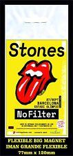 ROLLING STONES BARCELONA NO FILTER  TOUR FLEXIBLE BIG MAGNET IMAN GRANDE 1206