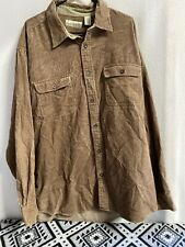 Vintage Fieldmaster Size Large Corduroy Button Down Long Sleeve Shirt XL Brown