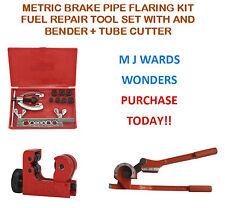Métricas de freno Pipa Quema Kit combustible reparación conjunto de herramientas con y Bender + Tubo Cutter