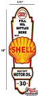 """18"""" x 5.7"""" Shell GASOLINE LUBSTER FRONT DECAL LUBESTER OIL CAN / GAS PUMP"""