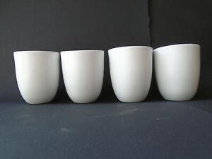 New Modern Contemporary White Ceramic planter set (4)