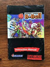 Looney Tunes B-Ball Basketball SNES Super Nintendo Instruction Manual Only