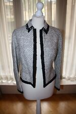 VALENTINO (RRP $3,500) Tweed and Lace Reversible Suit Jacket Blazer - Size 42