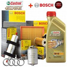 Kit tagliando olio motore CASTROL EDGE 5W40 5LT + 4 FILTRI BOSCH AUDI A4 1.9 TDI