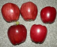 Apples Artificial Fruit Fake Imitation Fruit Home Decor Lot Of 5 RED