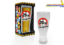 BEER GLASS PINT BIRTHDAY GIFT PRESENT FUNNY RUDE CHEEKY - SIZE MATTERS HARDCORE