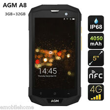 AGM A8 4G Smartphone 5.0'' Android 7.0 Quad Core 3GB+32GB Waterproof 13.0MP