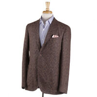 NWT $1725 BOGLIOLI Brown-Blue Melange Wool 'K Jacket' Sport Coat 40 R (Eu 50)