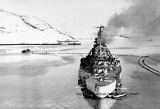 GERMAN BATTLESHIP TIRPITZ AT SEA AND IN KAAFJORD, NORWAY DURING WWII - 20 PHOTOS