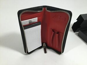 """ACME Studio """"P.A.D. Red"""" Genuine Leather Wallet Pen Holder Pad NEW"""