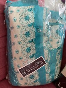 Bareezeé Home Expressions Embroidery Quilt Cover, 2xPillow Case  (NWT) Gorgeous