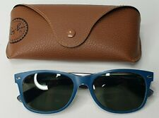 Ray-Ban Sunglasses RB2132 6191/71 Blue Matte Clear 55 mm tinted lenses + case