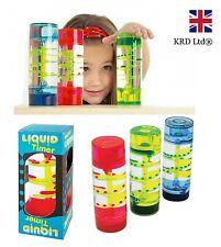 LIQUID MOTION SPIRAL DESKTOP TIMER Kids Sensory Aid ADHD Stress Relief Toy Gift