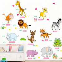 jungle animals wall stickers for kids rooms decor poster wall decals removabl_WK