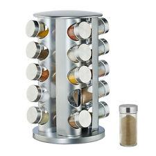 Gewürzkarussell 20 vasos especiero acero inoxidable gewürzstreuer set drehkarussell