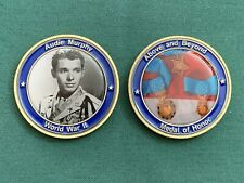 AUDIE MURPHY MEDAL OF HONOR CHALLENGE COIN WORLD WAR 2