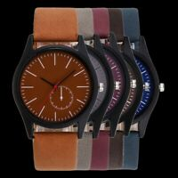 Elegant Women Leather Strap Watch Solid Color Quartz Analog Wristwatch Accessory