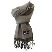 Sciarpa foulard Aquascutum 100% Lana 120x36 cm Uomo grigio