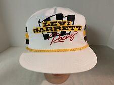 Vtg Levi Garrett Racing Trucker Hat SnapBack 3 Stripe K Products Tobacco Nice!