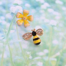 Asymmetrical Flower Bee Ear Stud Fashion Jewelry Stud Earrings Girls