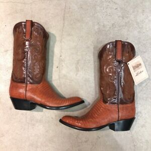 Men's Hand Made Lucchese Armadillo Skin Cowboy Boots Size 10 D