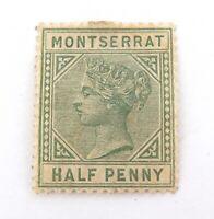 .MONTSERRAT 1884 MINT QV 1/2d MH NICE GRADE STAMP.
