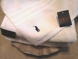 RALPH LAUREN Luxury Towel 70x100cm Soft Blush white Medium/Large Towels NEW