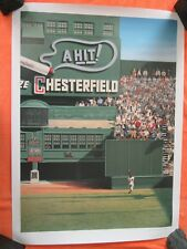 """Willie Mays """"Amazing Polo Ground Catch"""" Litho by Bill Purdom 1993 LE 16/600 Mint"""