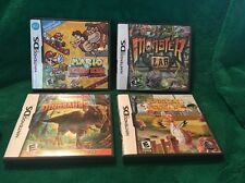 Lot of 4 DS Games: Mario Vs. Donkey Kong, Monster Lab, Dinosaurs,  Chicken Shoot