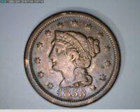 1853 Large Cent  Braided Hair  ( 20-187 7m/o )