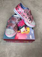 S Sport By Skechers Toddler Girls Alicyn Crystal Stars Light up Sneakers Pink 10