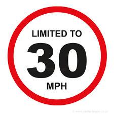 20 x limitato a 30 MPH veicolo limitazione della velocità PARAURTI stampato AUTO FURGONE ADESIVO