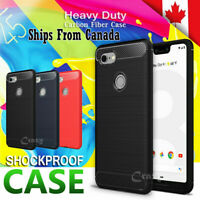 Carbon Fiber Heavy Duty Case Cover For Google Pixel 2 3 4 5 XL 2XL 3XL