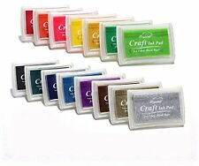 15 Pack Multi Color Ink Pads for Rubber Stamp Scrapbooking Cards Gift Decoration