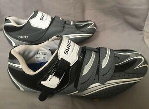 SHIMANO SH-R087GE Black Gray Mountain Bike MTB Shoes Mens Sz 10.5 Wide