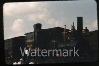 1950s red border Kodachrome Photo slide Pennyslvania exhibition railroad train 2