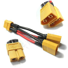 1 XT60 Plug Parallel Battery Pack Connector Adapter Cable Y Harness NiMH Lipo